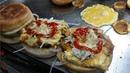 Special Egg Burger Bun Kabab at Bahadurabad Street Food of Karachi Pakistan