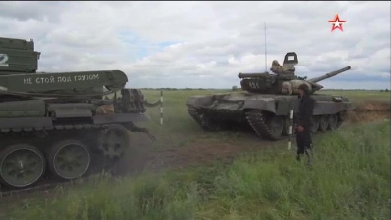 Всеармейский конкурс «Рембат» стартовал в Омске кадры из кабины «подбитого» танка