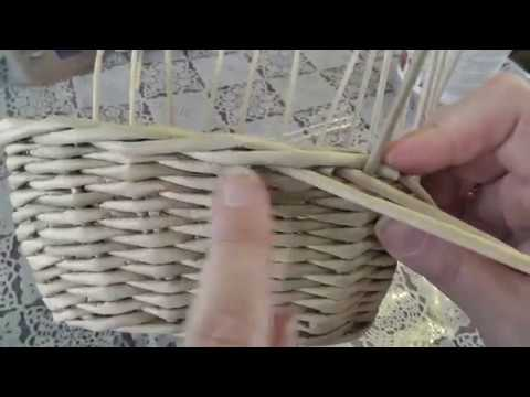 Загибка РОЗГА. Плетение из газетных трубочек