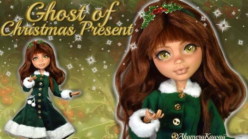 Ghost of Christmas Present - A Christmas Carol inspired Doll Repaint