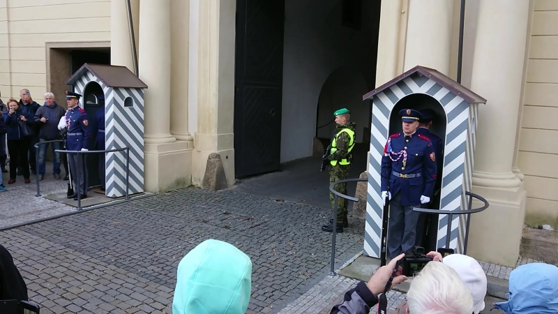 Смена почетного караула в Пражском граде