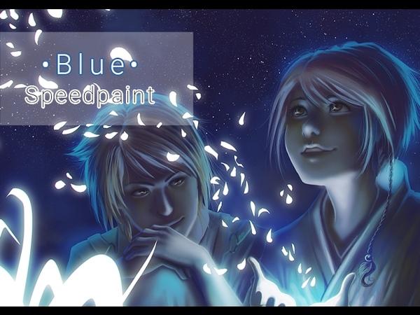Blue • Digital Painting Process Timelapse [Speedpaint]