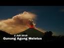 Gunung Agung Meletus Malam Ini 2 Juli 2018