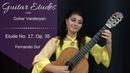 Etude no. 17, op. 35 by Fernando Sor   Guitar Etudes with Gohar Vardanyan