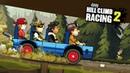 БЕЗУМНЫЕ ГОНКИ НА АВТОБУСЕ Весёлая мульт игра для детей про гонки на тачках Hill Climb Racing 2