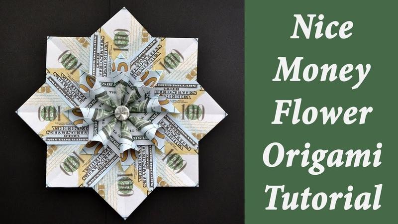 Nice Money FLOWER | Modular Origami out of Dollar bills | Moneygami | Tutorial DIY by NProkuda