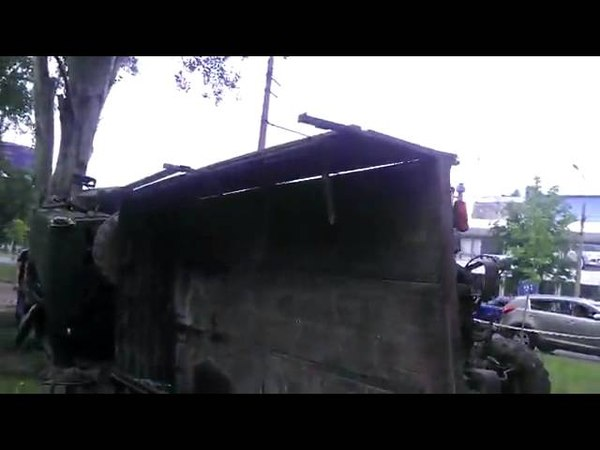 Взорванный КАМАЗ в Донецке 27.05.2014