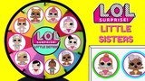 LOL SURPRISE LITTLE SISTERS SERIES 2 Spinning Wheel Game Lil Outrageous Littles Baby Dolls