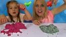 3 Colors of Kinetic sand Challenge!