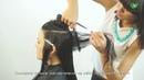 Стрижка длинных волос и челки Haircut long hair and updo parikmaxer tv