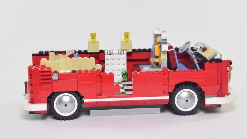 Lego® build in stop motion set number 10220 VW Transporter T1