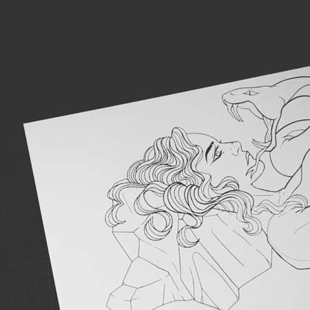 """Fjora on Instagram: """"Making a header for my vk page. Snoodle cuddle 🐍💚 wip  Also I changed my username, yes ✨"""""""