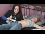 Alysa Gets Navel Tickled On Bed
