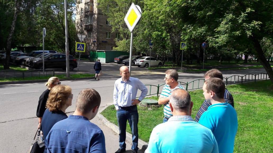 Глава управы Евгений Щербачев провел субботний обход территории Савеловского