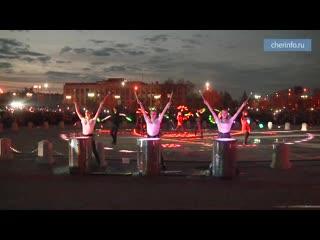 Открытие фонтана у ДКМ
