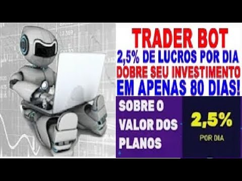 【TRADERBOT】☛ 2,5% Diário | Robô Trader | Trabalha no Automático | Binance | BitMex | BitTrex