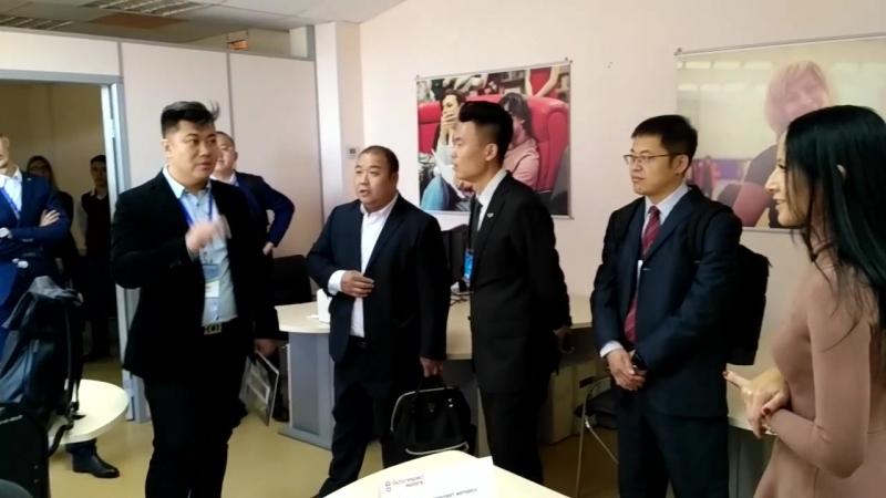 Участники российско-китайского бизнес инкубатора в технопарке