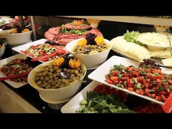 Чем кормят в отелях Турции Завтрак в отеле 5* Eftalia Ocean Шведский стол Отдых в Турции 2018