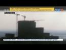 Россия 24 Ураганный ветер в Ростове на Дону раскрутил и раскачал башенный кран Россия 24