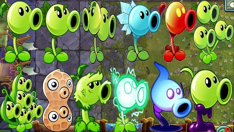 Plants vs Zombies 2 BattleZ All Peashooter Pvz 2 Max Level Power-up Gameplay 2018