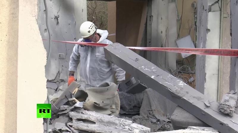 Запущенная из сектора Газа ракета разрушила жилой дом в Израиле