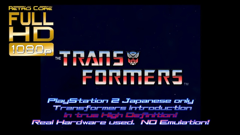 PlayStation 2 PS2 Transformers Takara Winky Soft opening in full true HD