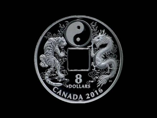 Pure Silver Coin – Tiger and Dragon Yin and Yang