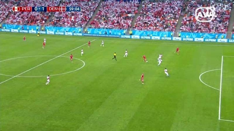 Perú 0 1 Dinamarca Grupo C fecha 1 Mundial Rusia 2018