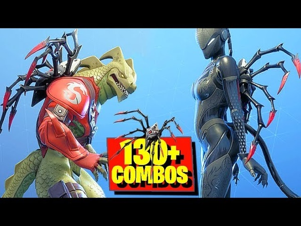 Fortnite LONG LEGS (Arachne's Back Bling) with 130 Skins Styles Combos