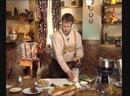 Телекафе Кухни мира Австрийская Суп с ливерными кнедлями Отварная говядина с хреном и сливками Блин Кайзершмарн с фруктами