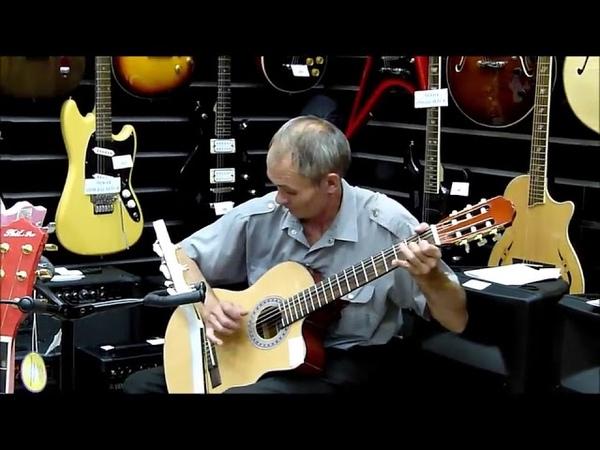 Теперь Русский дед выбирает себе гитару в магазине
