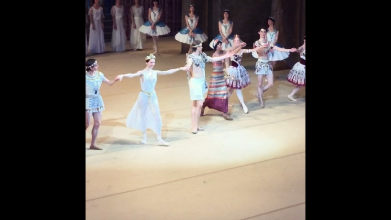 "Video - 41, 19.07.2018 ""La Fille du Pharaon"" Svetlana Zakharova and Denis Rodkin, BolshoiTheatre 🎭"