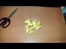 Как сделать из оригами змейку/ Модульная змейка.