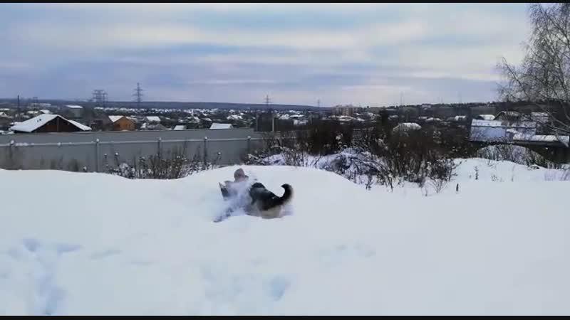 Ангел на снегу... Ну почти))