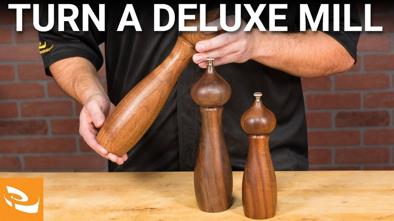 Turning a Deluxe Pepper Salt Mill Woodturning Project