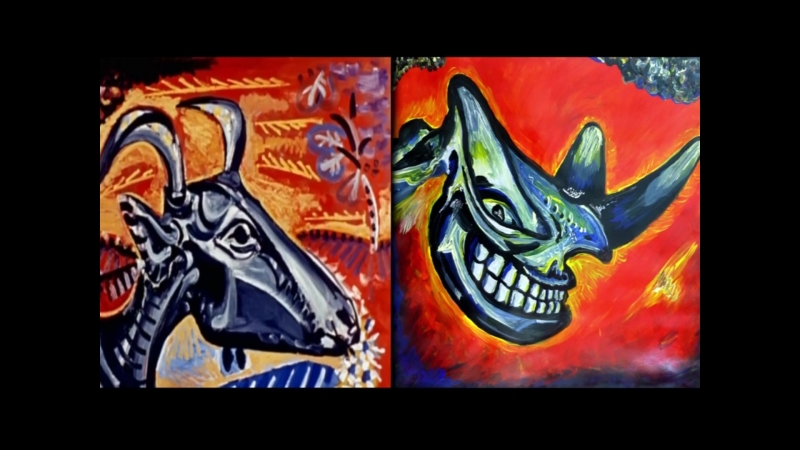 Paint-like-a-child-Pablo-Picasso- video exercise