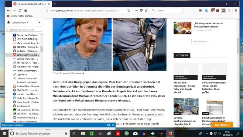 30 08 18 Eil Bundespolizei soll auf Merkels Befehl Chemnitzer Proteste niederschlagen
