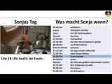 Deutsch lernen A1- Sonjas Tag