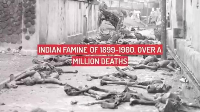 Под колониальным игом Британии произошли 14 крупнейших голодоморов. По консервативным оценкам умерло 50 млн человек.