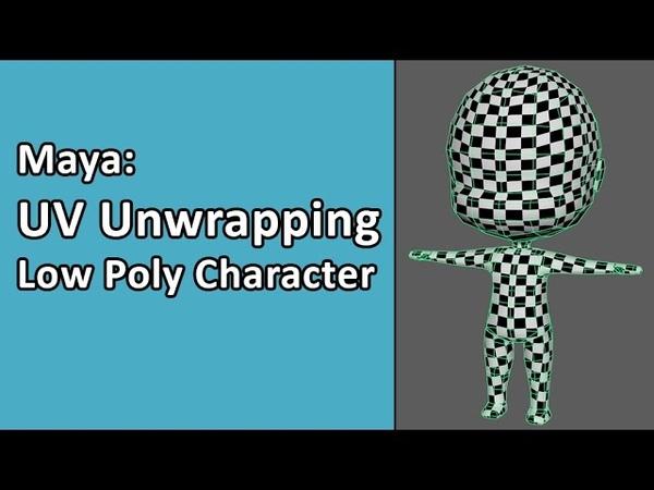 Maya Simple Character Part 02 - UV Unwrapping Model