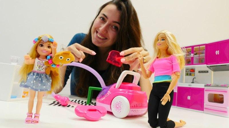 Sevcan ve Barbie Chelsea'nin oyuncağını arıyor. Evcilik oyunu