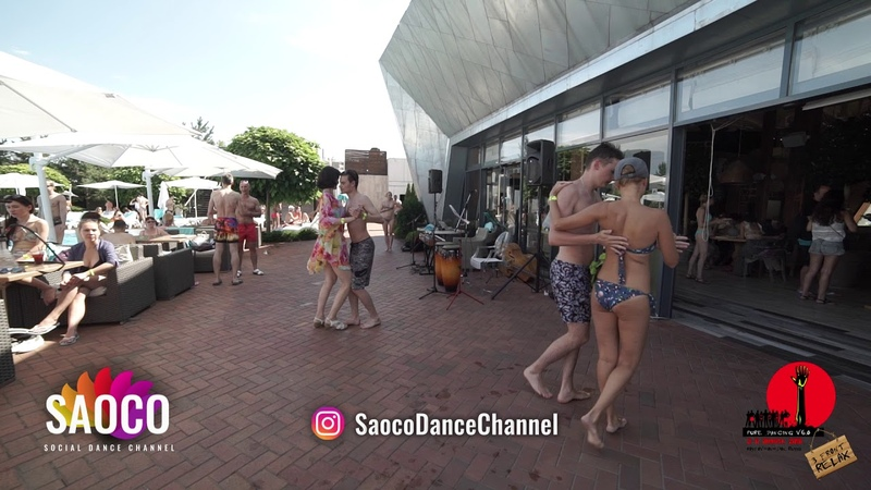 Man and Lady Kizomba Dancing in Solnechny Club at The Third Front 2018, Saturday 04.08.2018 (SC)