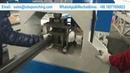 CNC Automatic Hydraulic Tube Punching Machine For Metal Shelf Tube