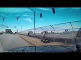 Incredible footage of motorcycle crash in downtown Atlanta