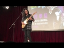 Takayoshi Ohmura playing guitar solos while trying a new ESP Snapper Custom (Guitar Clinic in HK)
