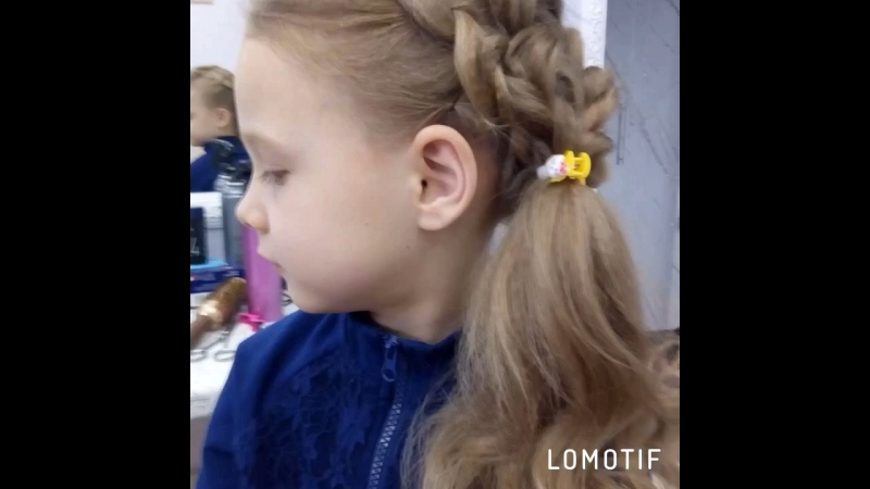 Детская причёска с косами