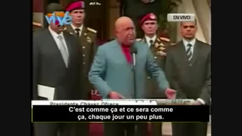 Le Président Hugo Chavez dénonce les crimes de l'OTAN en Libye
