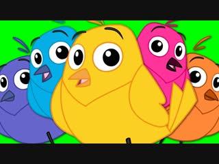 Five Little Birds _ CoCoMelon Nursery Rhymes Kids Songs