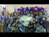 الحفل الختامي لتكريم المتطوعين لمشاركتهم في تنظيم بطولة الألعاب الشتوية للطلاب في روسيا