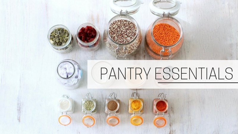 PANTRY ESSENTIALS » printable grocery shopping list